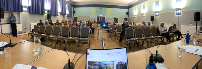 Perranporth Memorial Hall NDP meeting